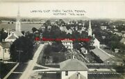 Wi Hartford Wisconsin Rppc Looking East From Water Tower Montgomery No 24