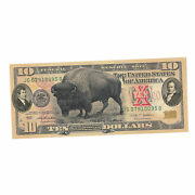 Collectible American Bison Lewis And Clark 10 Dollar Banknote