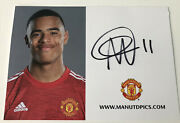 Mason Greenwood - Hand Signed Manchester United Official 20/21 Club Photo Card