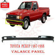 For 1987-1988 Toyota Pickup 2wd Front Lower Valance Panel Primed Steel To1095162