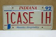 1992 Indiana Farmerand039s License Plate For Case Tractor Fans 1case Ih Unrestored