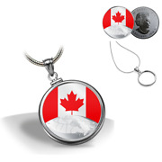 🇨🇦 This Is Canada 5 Five Dollars Silver Coin Bezel With Necklace Kit, 2019
