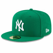 New Era Menand039s Mlb New York Yankees Basic 59fifty Fitted Hat Kelly Green Headw...