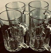 Anchor Hocking Beer Mugs With Handles Set Of 4 Holds 16 Oz