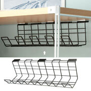 2pcs/pack Under Desk Wire Organizer With Screws Office Cable Management Tray