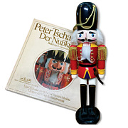Collection Of Christmas Wooden Nutcracker With 2 Lp Vinyl From Peter Tchaikovsky