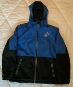 Dominos Pizza Gear Unisex Employee Royal Blue Midweight Jacket Size Large