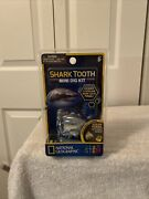National Geographic Shark Tooth Mini Dig Kit - Find A Genuine Shark Fossil