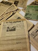 Lot Of 483 Wwii Papers Publications Stars And Stripes World War Ii Newspapers