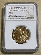 2012 D Sacagawea 1 17th Century Trade Routes Ngc Ms 66