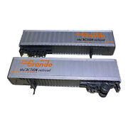 Ho Scale Athearn 45 Piggyback Truck Trailers Set Of 2 Rio Grande Missing Axels