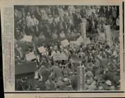 1968 Press Photo Attendees Of The Democratic National Convention In Chicago