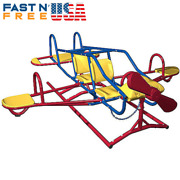 Ace Flyer Teeter Totter Airplane Seesaw Backyard Activity Toy - Multicolor