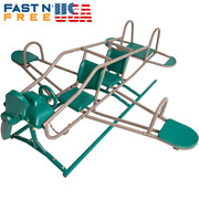 Ace Flyer Teeter Totter Airplane Seesaw Backyard Activity Toy - Green