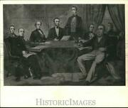 1969 Press Photo Abraham Lincoln's First Cabinet Members In Drawing - Nha06755