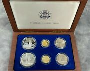 1986 United States Liberty Commemorative 6 Coin Set 1/2 Ounce Of Gold Nice