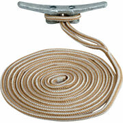 Sea-dog Double Braided Nylon Dock Line - 3/4 X 25and039 - Gold/white