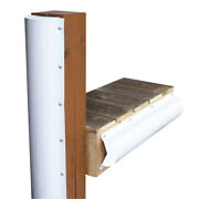 Dock Edge Piling Bumper - One End Capped - 6and039 - White 1020-f