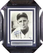 Hank Greenberg Autographed Framed 8x10 Photo Tigers Best Wishes Beckett A09979