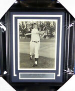 Mickey Mantle Autographed Framed 8x10 Photo 1950and039s Sig Yankees Jsa Coa 129430