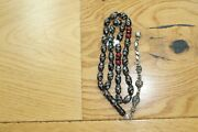 Prayer Beads Muslim Islamic Rosary Silver Red Coral Turquoise Yusr Black Coral