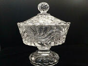 Old Baccarat Rosaces Multiples Lid Candy Box 19th Century Antique Crystal Glass