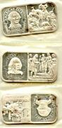 Vintage 20 Gram Bars Lot Of 3 The Silver Mint Franklin Washington And Revere