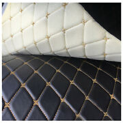 Vinyl Faux Leather Fabric Quilted Foam Car/furniture/upholstery Diy By The Yard