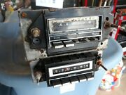 1975 Oldsmobile Full Size Am Push Button Radio And 8 Track -untested + Parts Am