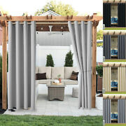 Waterproof Curtains Outdoor Lawn Pergola Home Patio Thermal Insulated Drapes Us