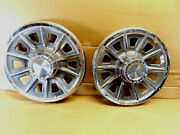 Set Of 2 Vintage Pontiac Motor Divison Hubcaps As Pictured Ships Out Fast