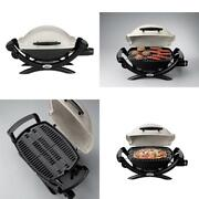 Portable Table Top Propane Gas Bbq Grill Cast-iron Burner Camping Tailgating