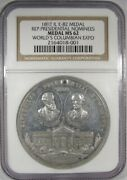 1892 Il E-82 Medal Mgc Ms62 Rep. Presidential Nominees Columbian Expo Medal Ak34