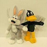 Set Of 1999 Warner Brothers Looney Tunes Bugs Bunny And Daffy Duck Mini Bean Bags