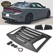 Fits 11-21 Charger V2 Style Rear Window Louver And Matte Black Quarter Side Scoop