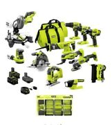 Ryobi One + 12- Power Tool 120-piece Combo Kit Set With 3 Batteries And Charger
