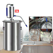 304 Stainless Steel Water Wine Alcohol Distiller Equipment 20l Capicity Usa New