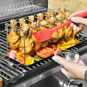 Beer Can Chicken Roaster Rack Bbq Roasting Stand Holder For Smoker And Grill