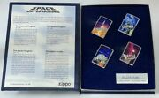 Very Rare 1997 Limited Edition Box Set Of 4 Zippo Space Exploration Collection