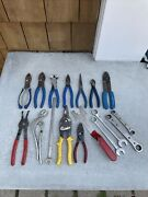 Bluepoint Snap On Mac Pliers And Cutters Wrench Lot Set R2022 A159 Ct14 Hcp46bp