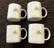 4 Vintage Pioneer Coffee Cups Mugs - Thank You From Corn Seed Sales Rep