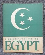 Wwii Us Pocket Guide To Egypt 1943 United States Military War And Navy