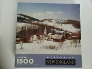 Vintage Springbok Puzzle Winter In New England 1500 Jigsaw Snow Mountains