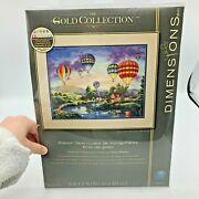 Dimensions Gold Collection Balloon Glow Counted Cross Stitch Kit
