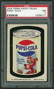 1973 Topps Wacky Packages 10th Series Pupsi Cola Psa Nm 7 Short Print