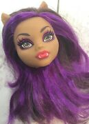 Monster High  Clawdeen Wolf Gloom Beach Doll Head For Replacement Or Ooak