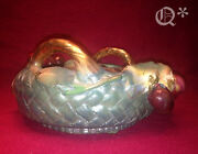 1910s Austrian Amphora Bowl Basket Cherry With Leaves