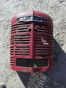 Farmall H Hv Ih Tractor Original Front Nose Cone Grill W// Screen And Emblem