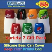 Variety Gift Pack Beer Can Covers, Silicone Sleeve Hide A Beer 12 Fl.oz