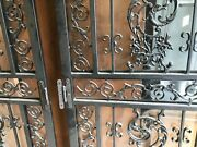 Antique Ornate Screen Doors, 80x36 double Standard Opening, With Glass Inserts.